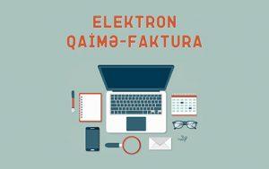 elektron qaimə-faktura E-qaimə