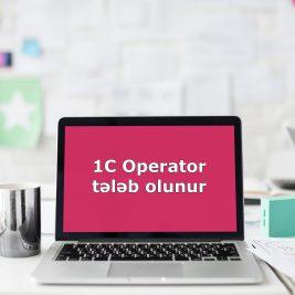 600 manat əmək haqqı ilə 1C Operator tələb olunur